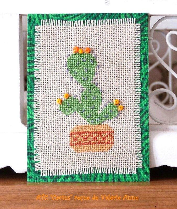 ATC Cactus reçue de Valérie-Anne