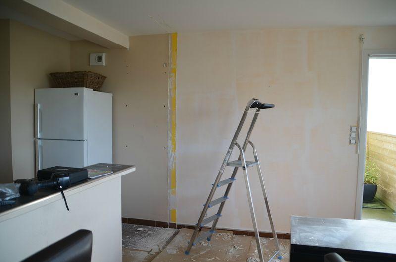 pan de mur r nov et repeint atmosph 39 r d co. Black Bedroom Furniture Sets. Home Design Ideas