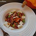 Salade de potimarron rôti aux herbes figues et féta