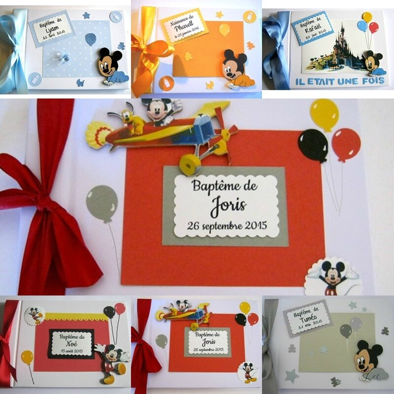 livres d'or de baptême thème Mickey