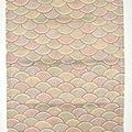 Coupon soie rinzu décors seigasha, grande longueur