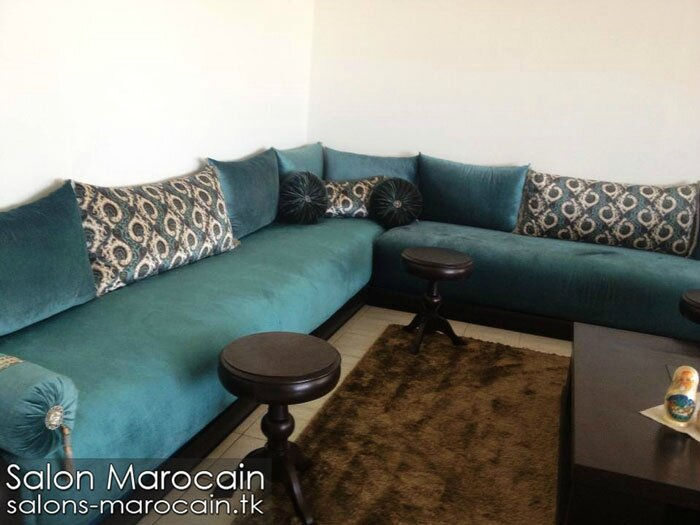 salon marocain bleu roi exceptionnel salon marocain moderne. Black Bedroom Furniture Sets. Home Design Ideas