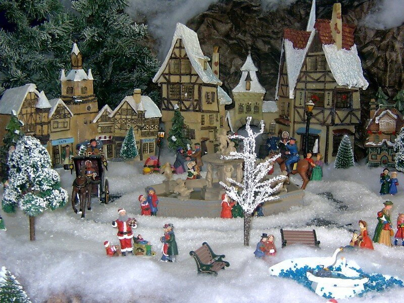 Pdr 0102 photo de village de no l 2004 noel miniature - Village de noel miniature ...