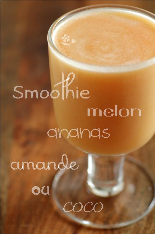 Smoothie melon, ananas, lait d'amande ou de coco_2