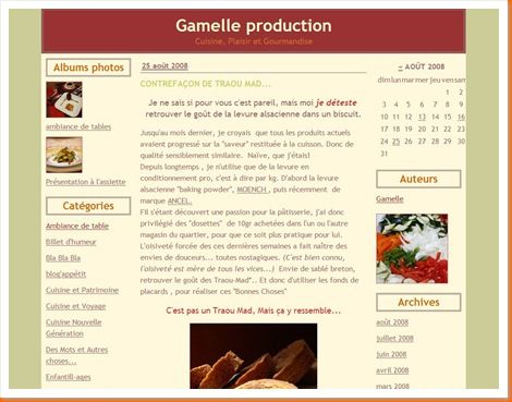 Gamelle production avant