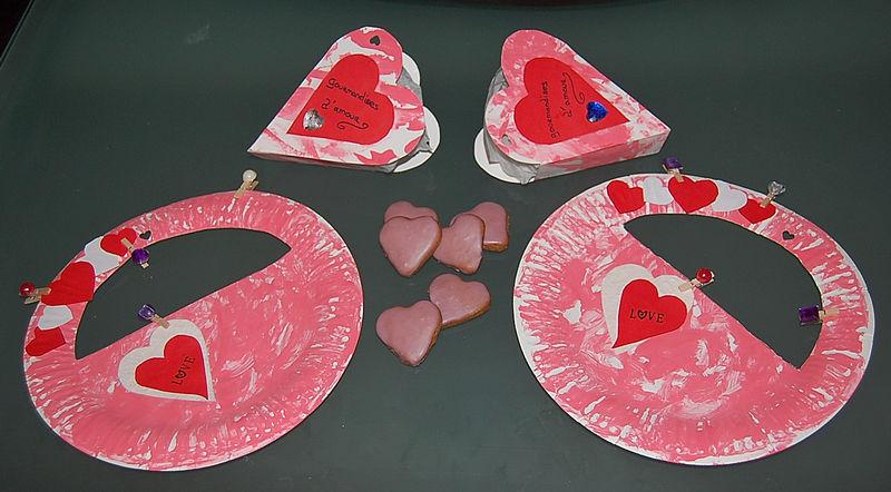 Pour la st valentin photo de les creations des enfants aux petites trouv - Pinterest bricolage st valentin ...