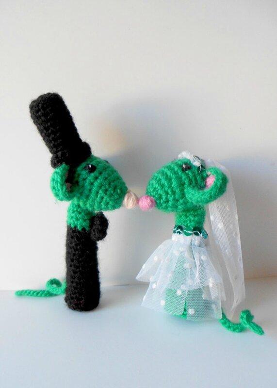 vive les mariés - mouse fingerpuppets - Anisbee