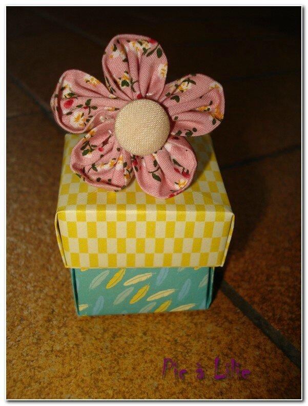 Bague kansashi et boîte origami