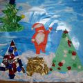 PS: Paysage de Noël, de la part de Christine