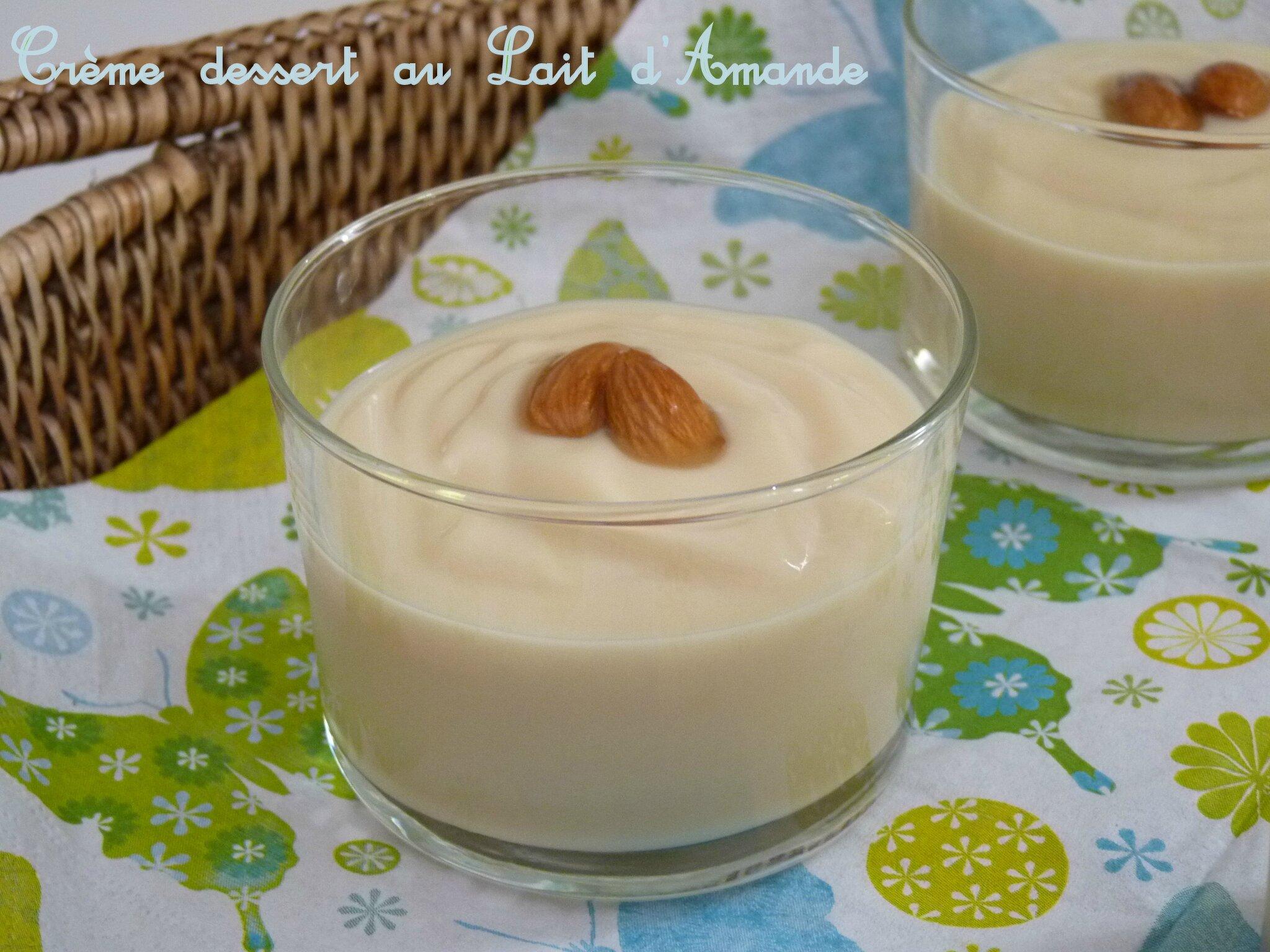 cr 232 me dessert au lait d amande photo de thermomix les d 233 lices de capu