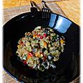 Poêlée de légumes sauce parmesan basilic