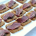 Tartines de Magret de Canard Fum sur Spculoos