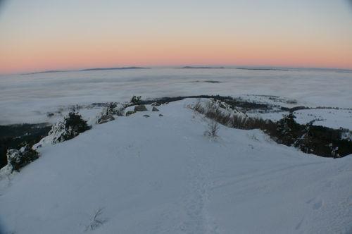 2008 12 24 Depuis le Pic du Lizieux magnifique mer de nuages
