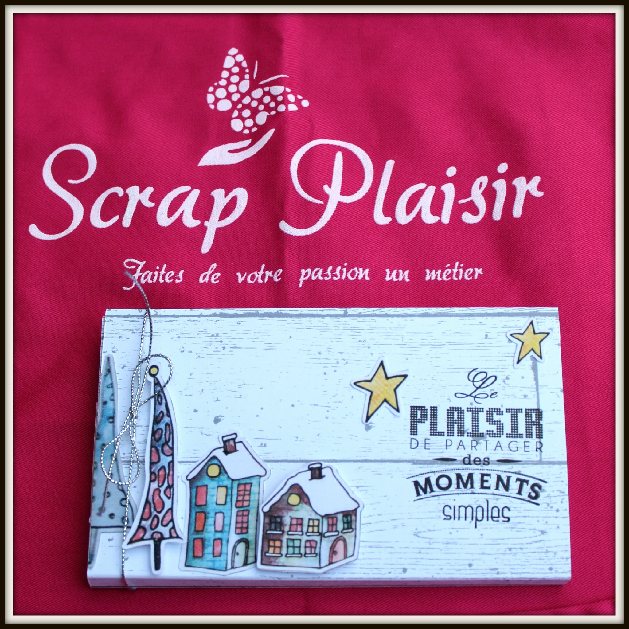 mini album Scrap Plaisir avec waterfall