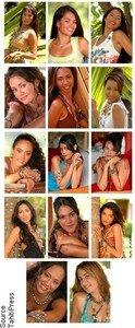 Copie d'écran des 14 candidiates à Miss Tahiti 2007