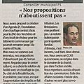Nos propositions n'aboutissent pas