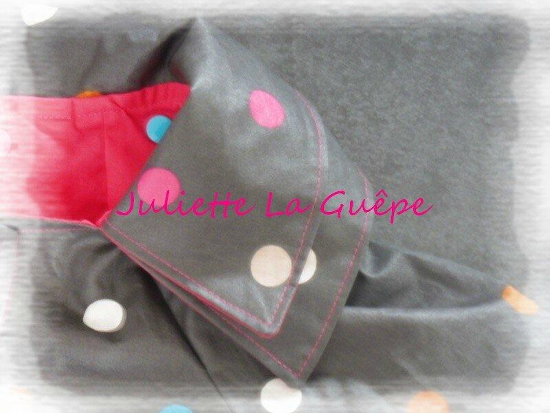 Céphée gris pois multicolore enduit 7