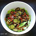 Salade aux légumes du soleil