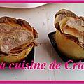 Roses cupcakes pommes de terre au