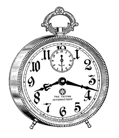 alarm clock vintage image graphicsfairy6c