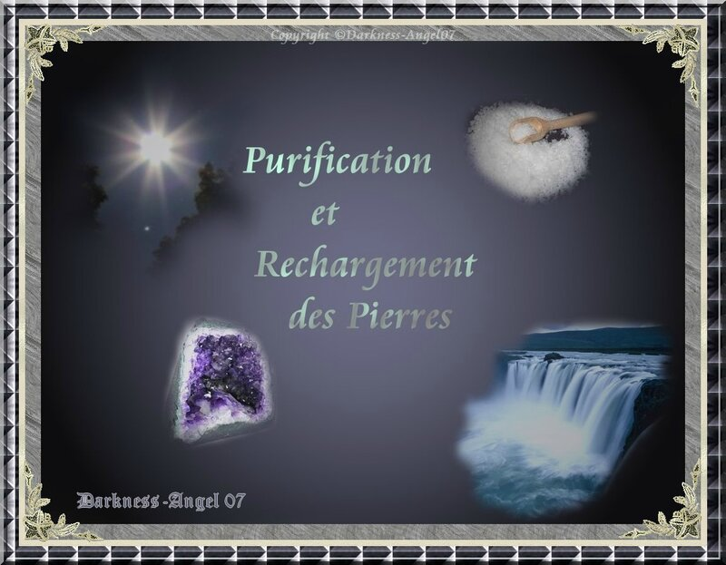 purification des pierres dark