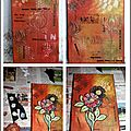 Two canvas inspired by lin brown for tando challenge - july !