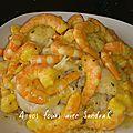 Chou-fleur sauce crevette pour 2 pers 5 sp (ou 7 pp)