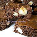 Brownies aux 2 chocolats et aux fruits secs