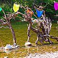 chevaliers des rivières land art yurtao