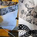 Dernières créations avec du tissu ancien