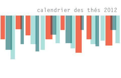 Le calendrier des thés 2012