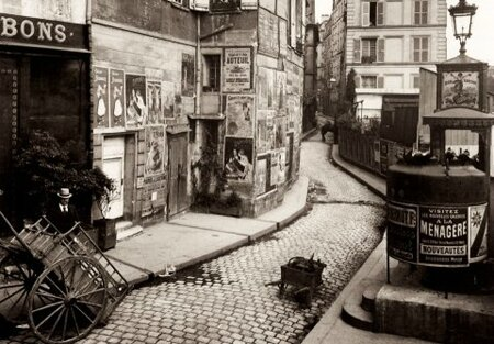 1920-rue de Paris-photo Eugène Atget