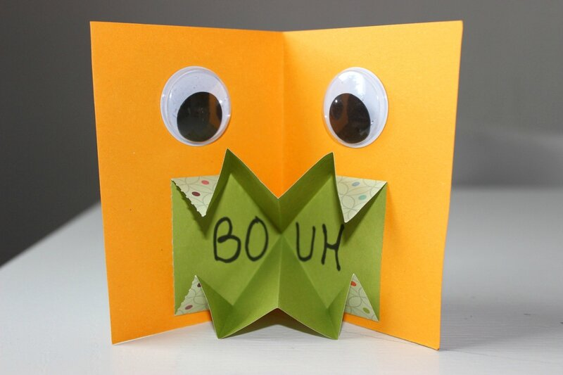 Pop up monstre orange pain d 39 pices - Carte pop up facile ...