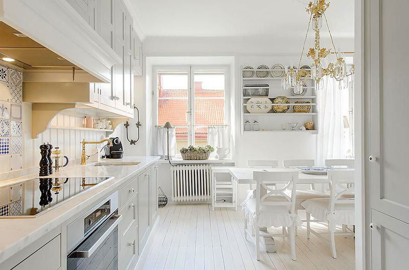 Decoration De Cuisine 2015 En Rose : Cuisine tout de blanc vêtue so lovely home