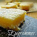 Lemon bars (carrés au citron)