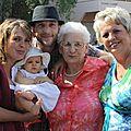 Rachel, Manon, Francky, Maman et Brigitte
