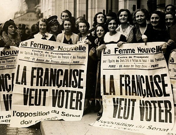 droit de vote des femmes le 29 avril 1945 sous le gouvernement de gaulle pour les lections. Black Bedroom Furniture Sets. Home Design Ideas