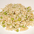 Risotto de petits pois