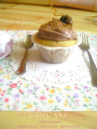 Cupckes chataigne & chantilly chocolat spéculoos