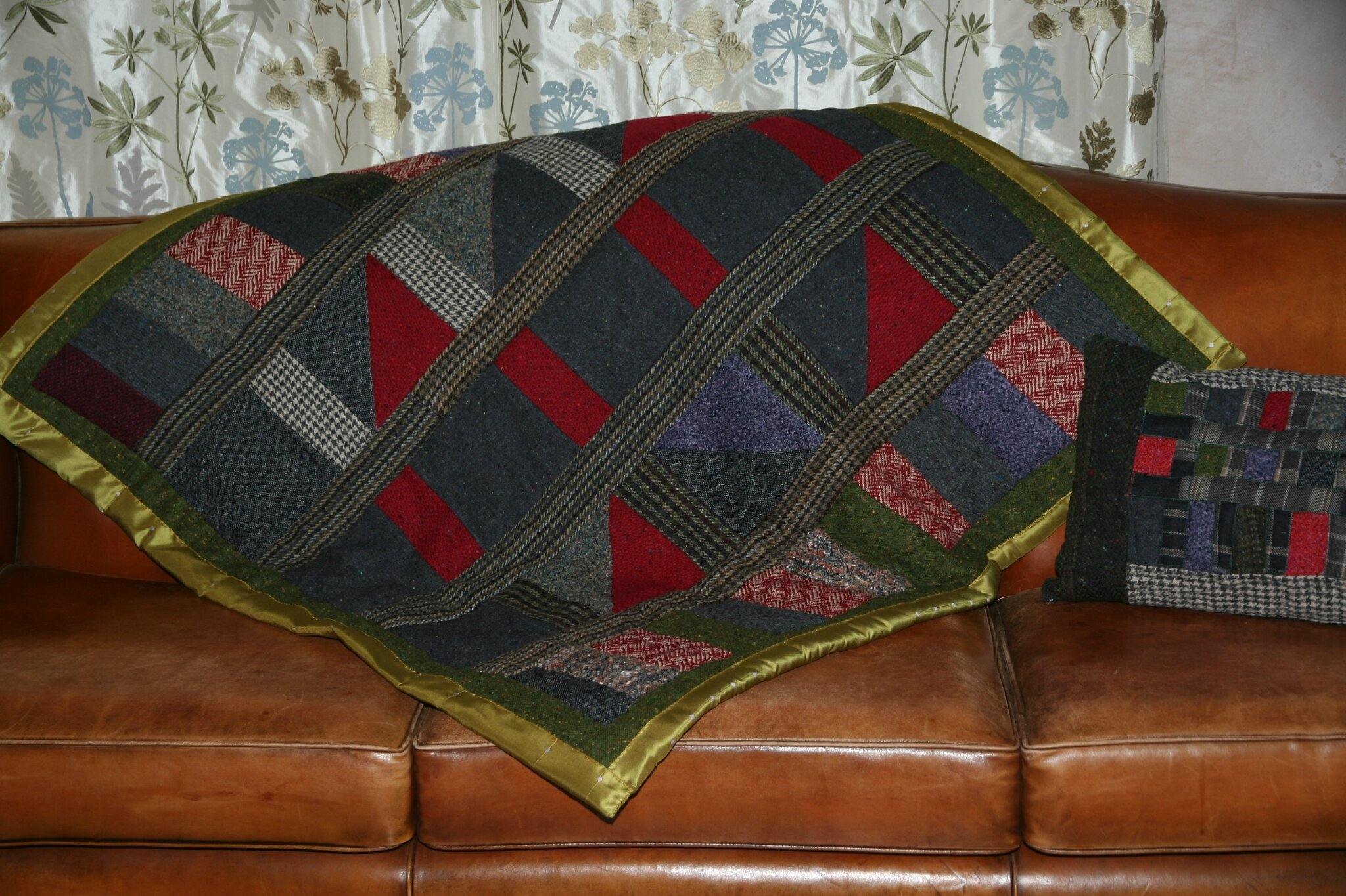 plaid patchwork tweed irlandais