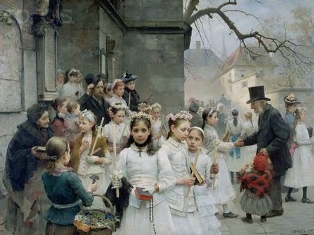 Smith Carl Frithjof 1859-1917 Après la Communion