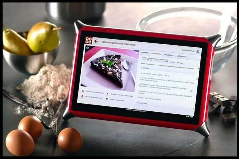 Tablette tactile culinaire qooq unowhy le blog de moon for Tablette tactile cuisine