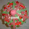 Manège de bonbons le chapiteau vue dessus