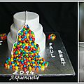 Gâteau m&m's montage