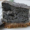 Black cheese-cake
