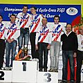 31 podiums Championnat France FSGT 2012 cyclosso cr