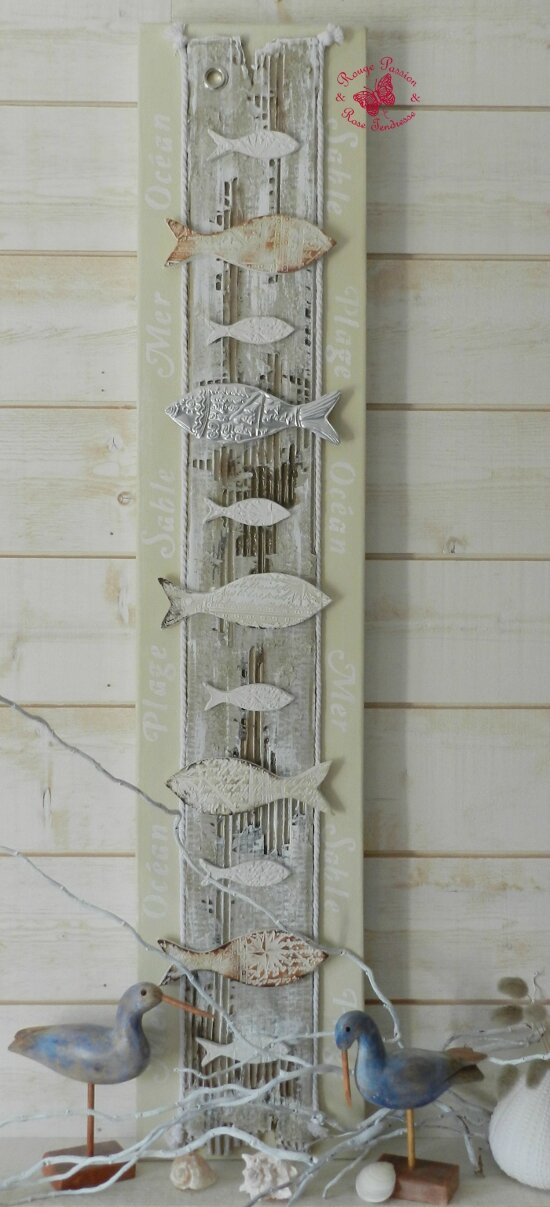 Tuto n 14 tableau home d co th me mer les p 39 tits for Tuto home deco tableau