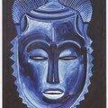 Huile sur toile 81x65 masque tu bodu du groupe je (dyè) yohourè (côte d'ivoire)