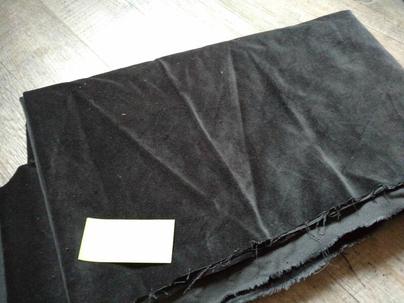 velours ras gris anthracite 110x95
