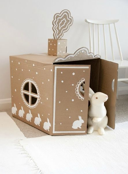 maison-carton-decor-lapin